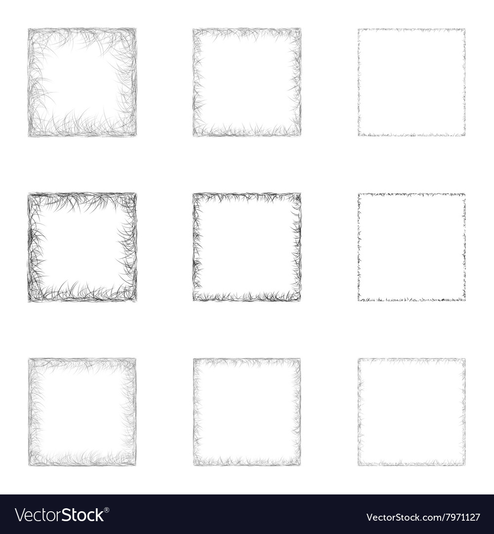 Square shape set vector