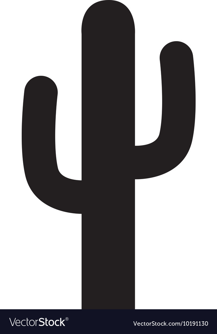 Cactus desert arid icon graphic vector
