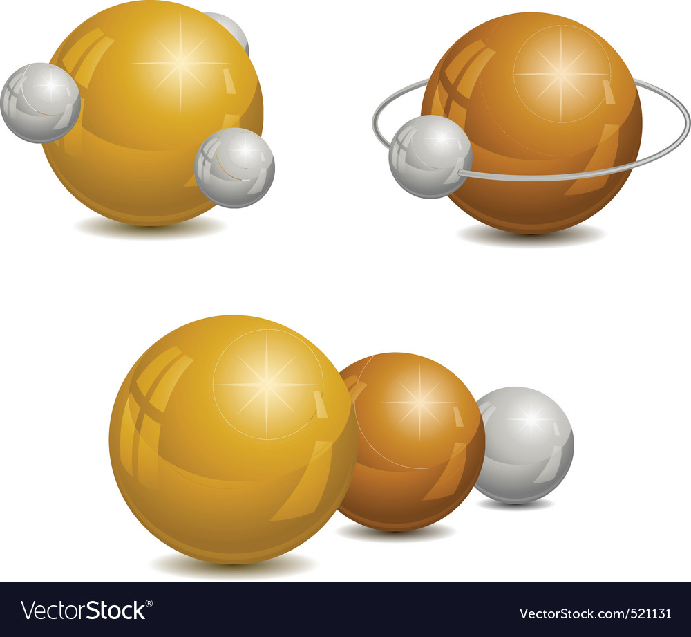 Golden spheres vector