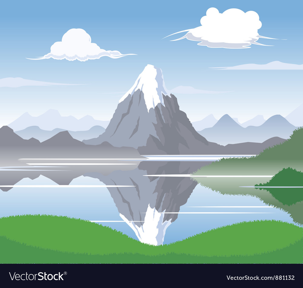 Mountain scape vector