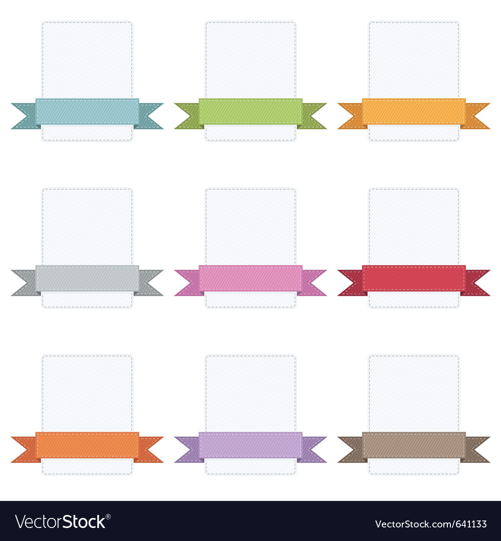 Ribbon badges vector