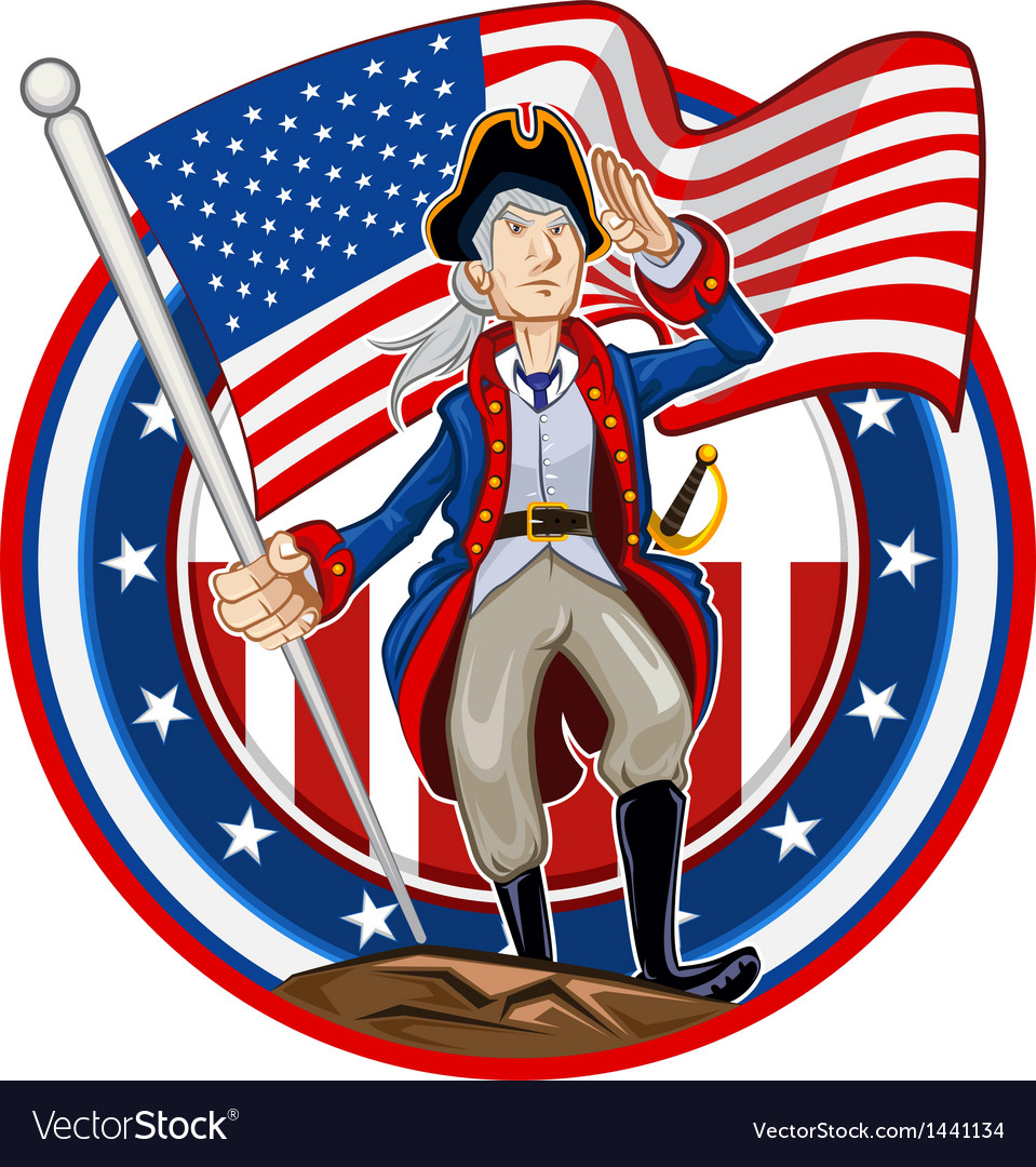American patriot emblem vector