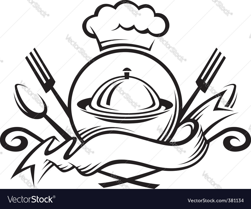 Chef arms vector