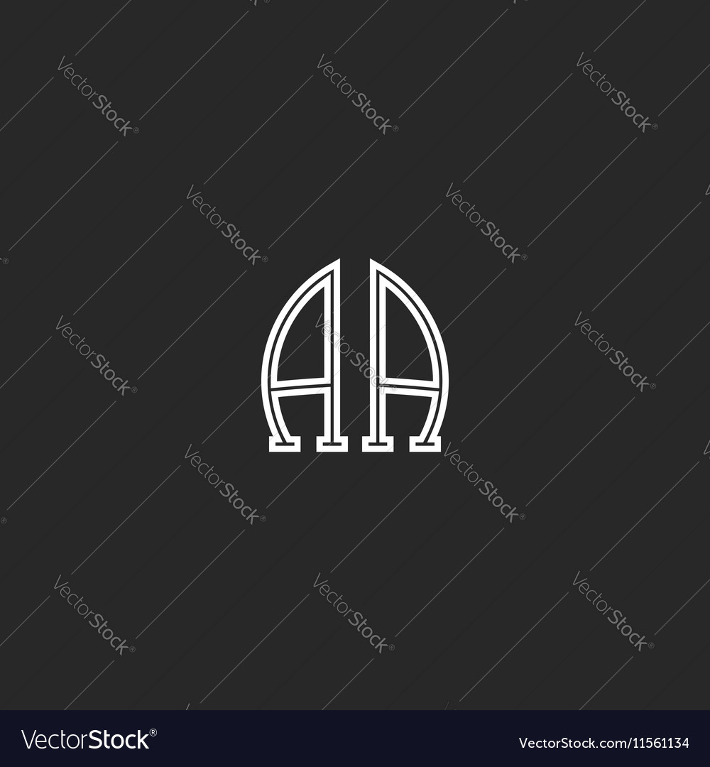 Monogram aa logo association of the two capital vector