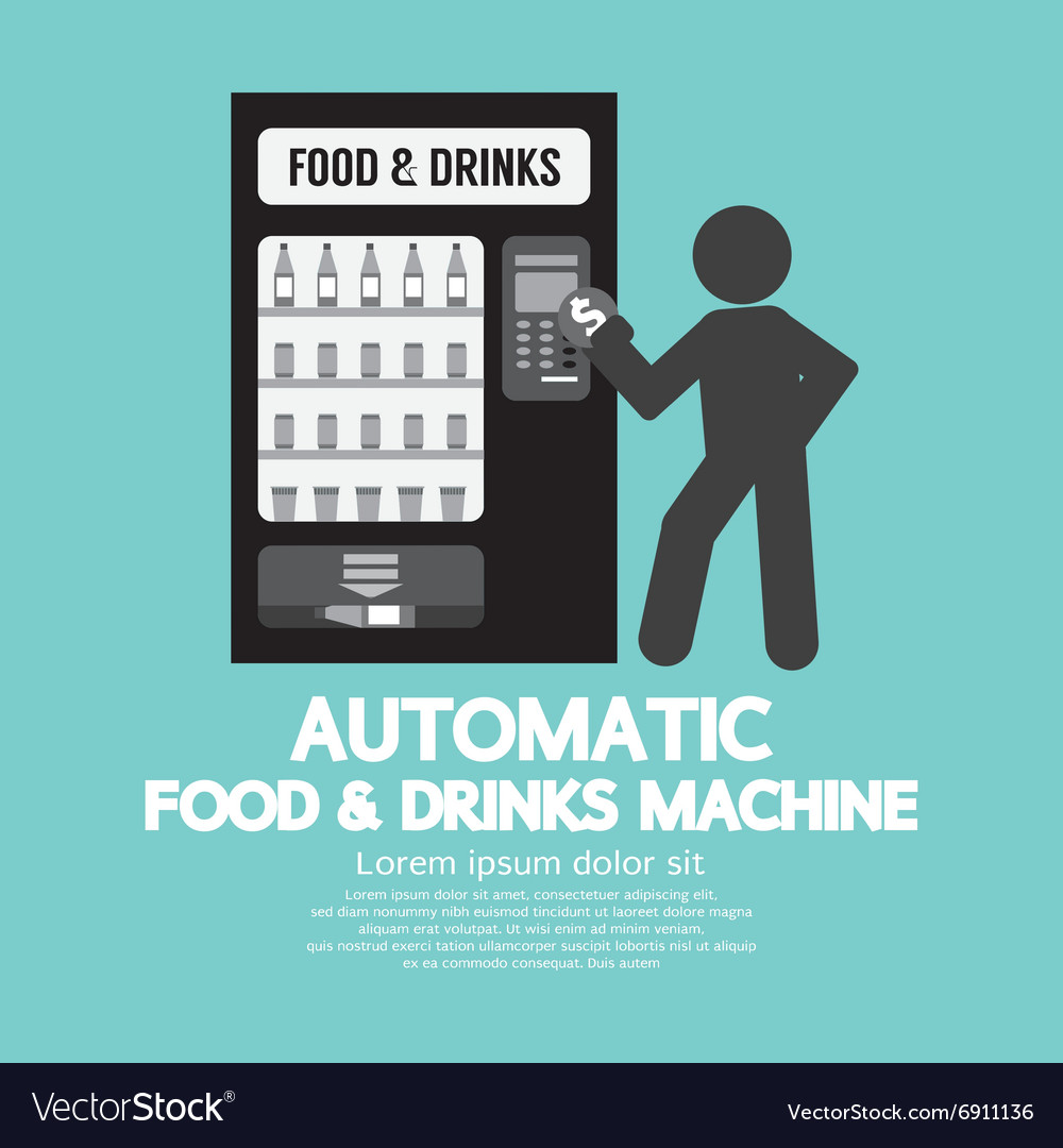 Automatic food machine symbol vector
