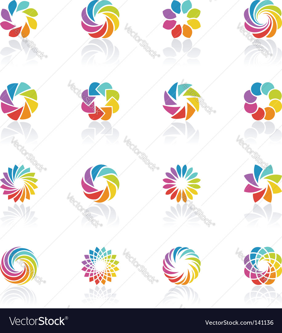 Spectral fantasies logo template set vector