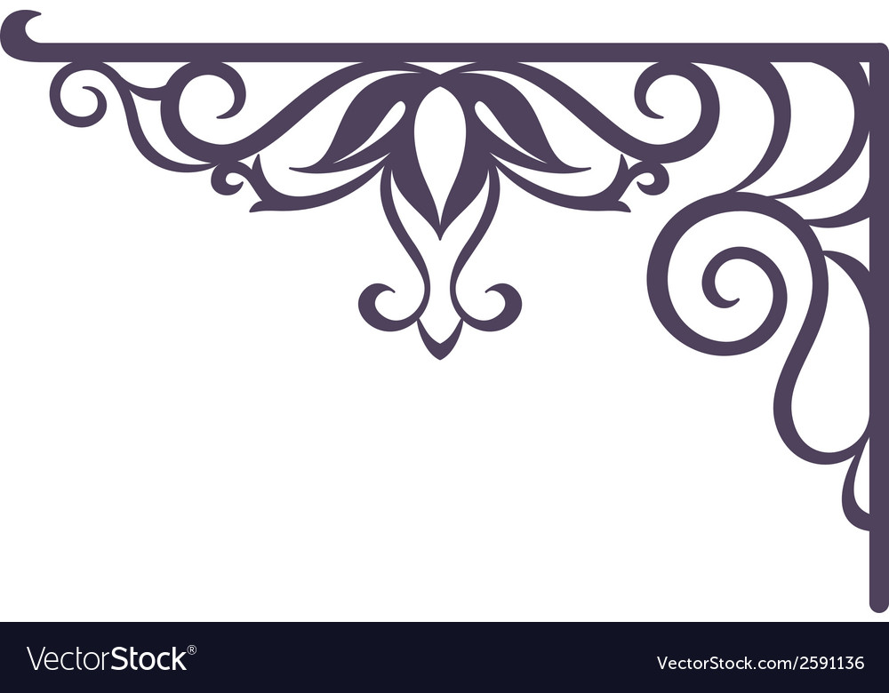 Vintage bracket for signboard silhouette vector