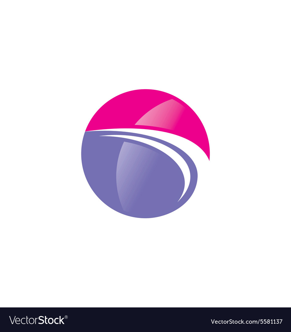 Abstract globe sphere beauty technology logo vector