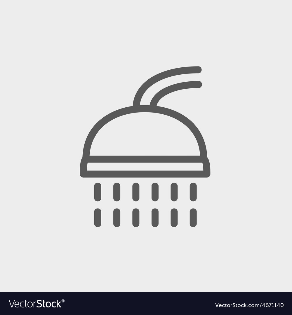 Shower thin line icon vector
