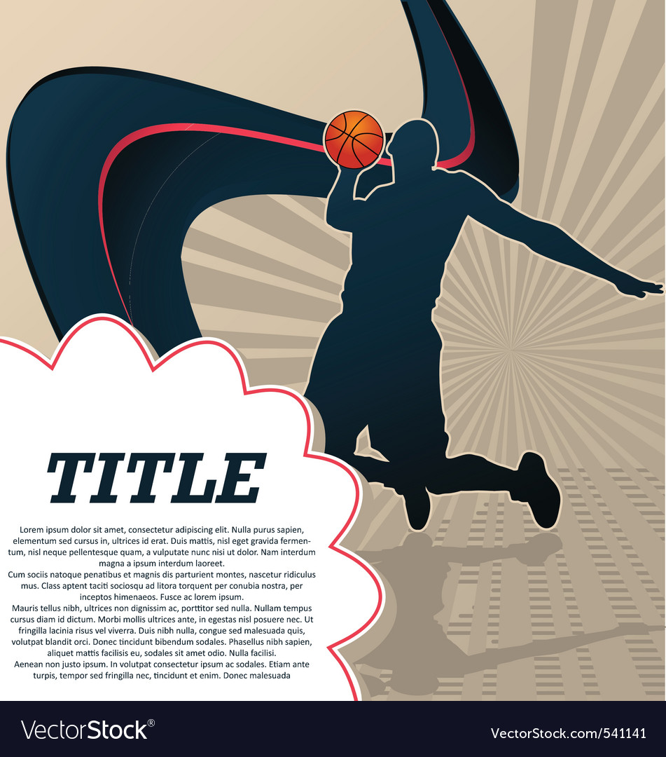 Sport template poster basketball vector