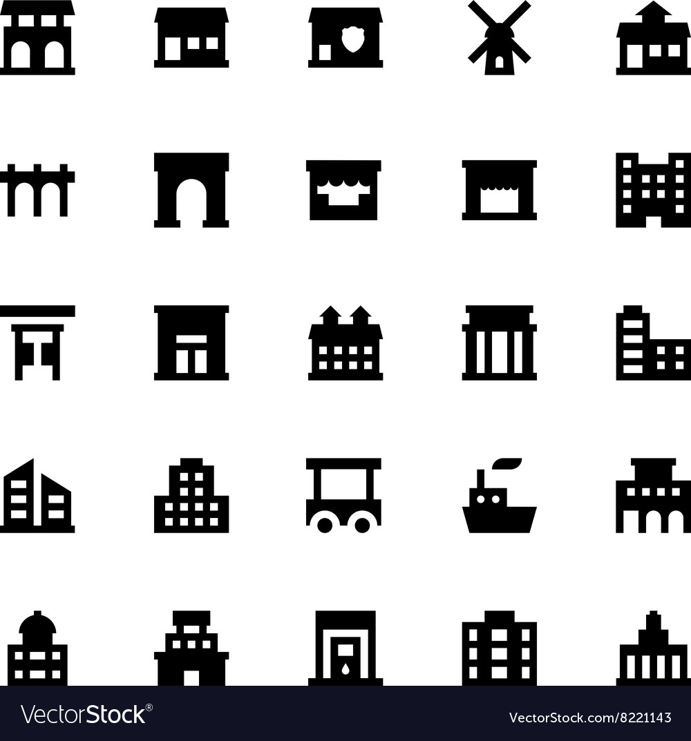 City elements icons 10 vector