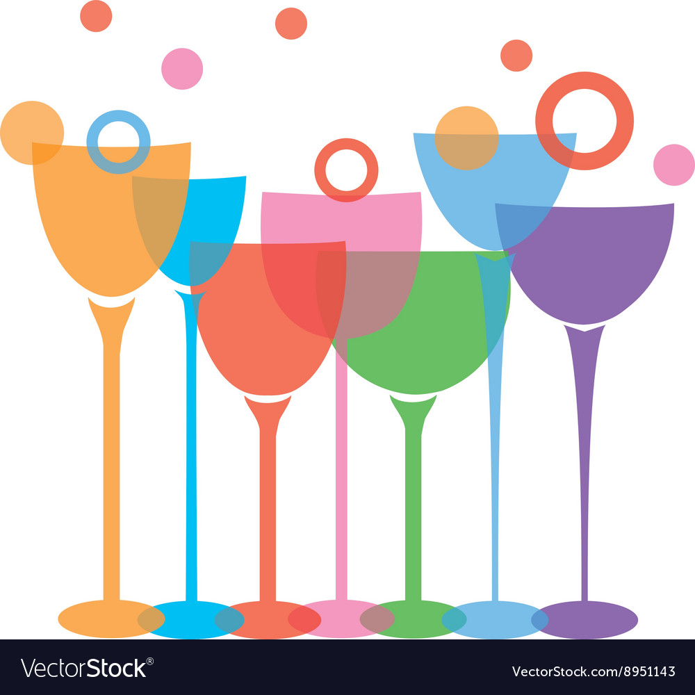 Wine glasses t vector