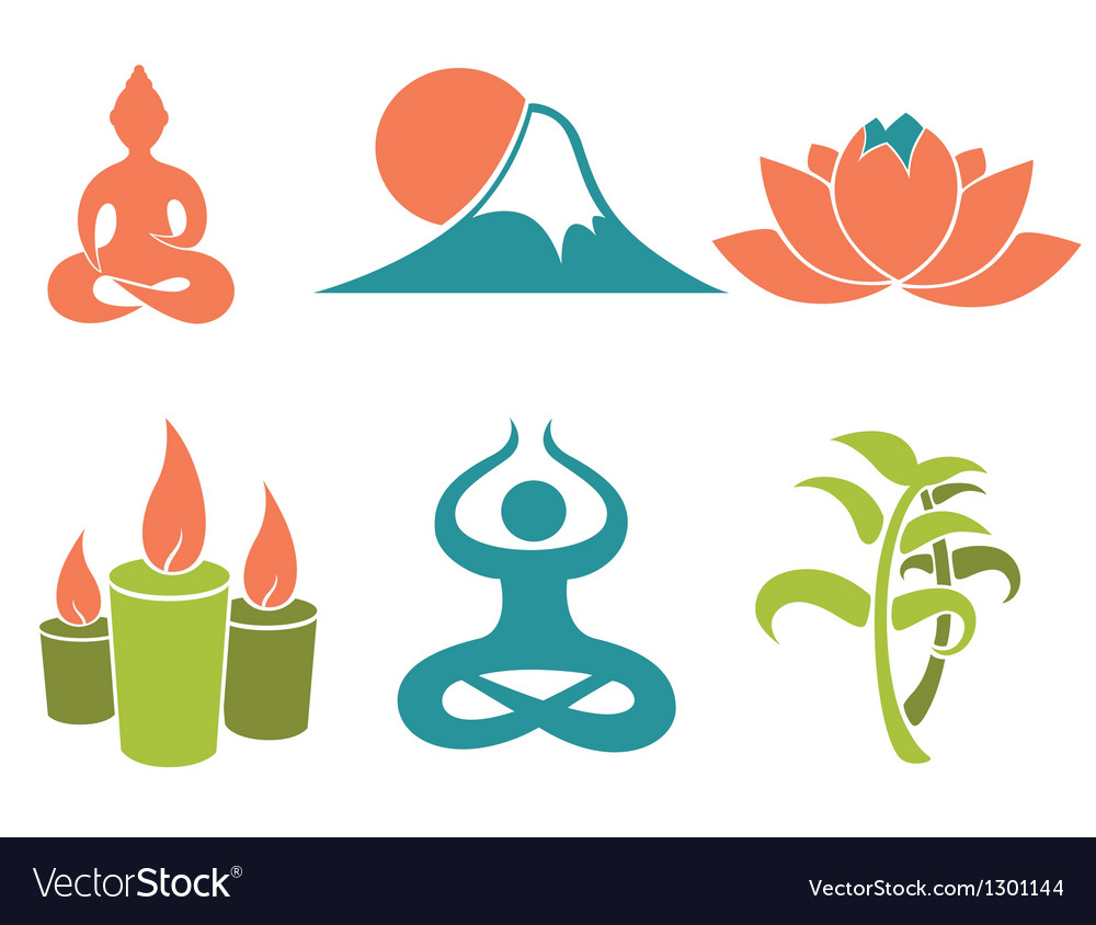 Asian relax and meditation vector