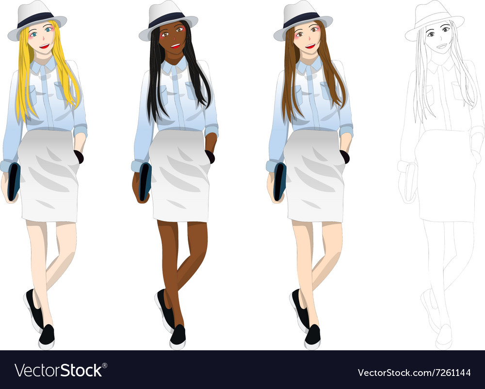 Woman fashion vector
