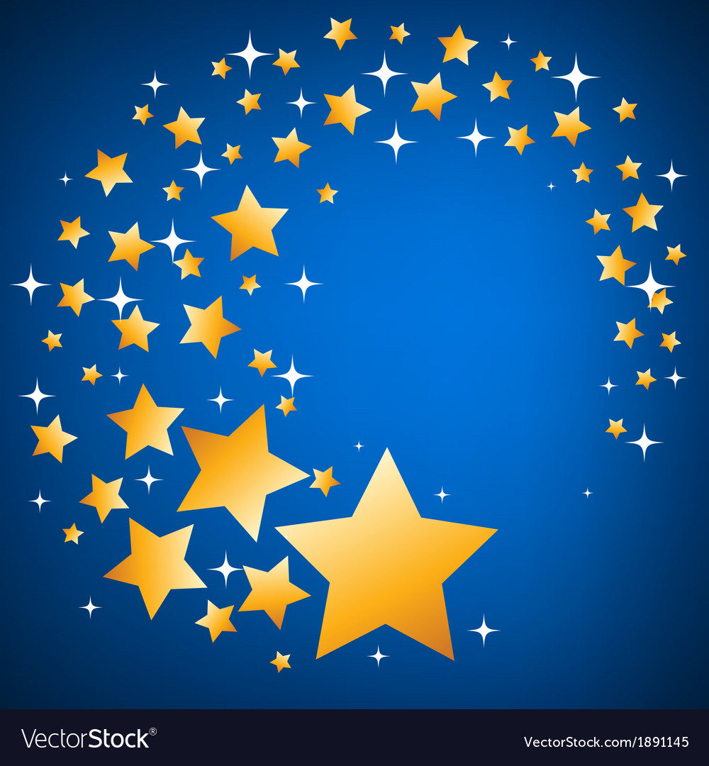 Gold and white stars seamless background vector