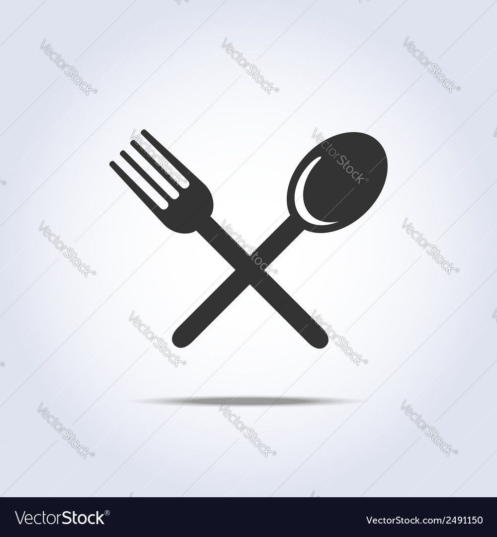 Fork spun icon vector