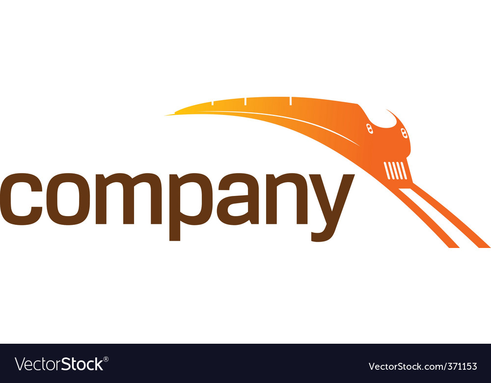 Train transportation logo vector