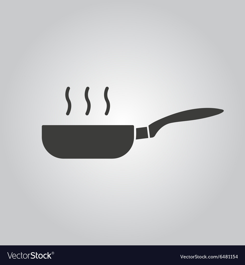 Pan icon barbecue and kitchen cook symbol vector