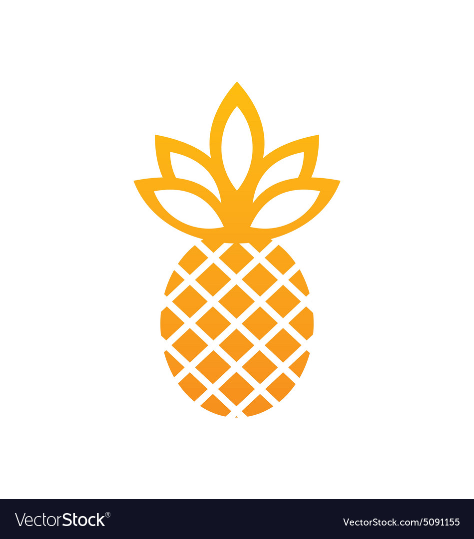 Pineapple icon fruit abstract logo vector