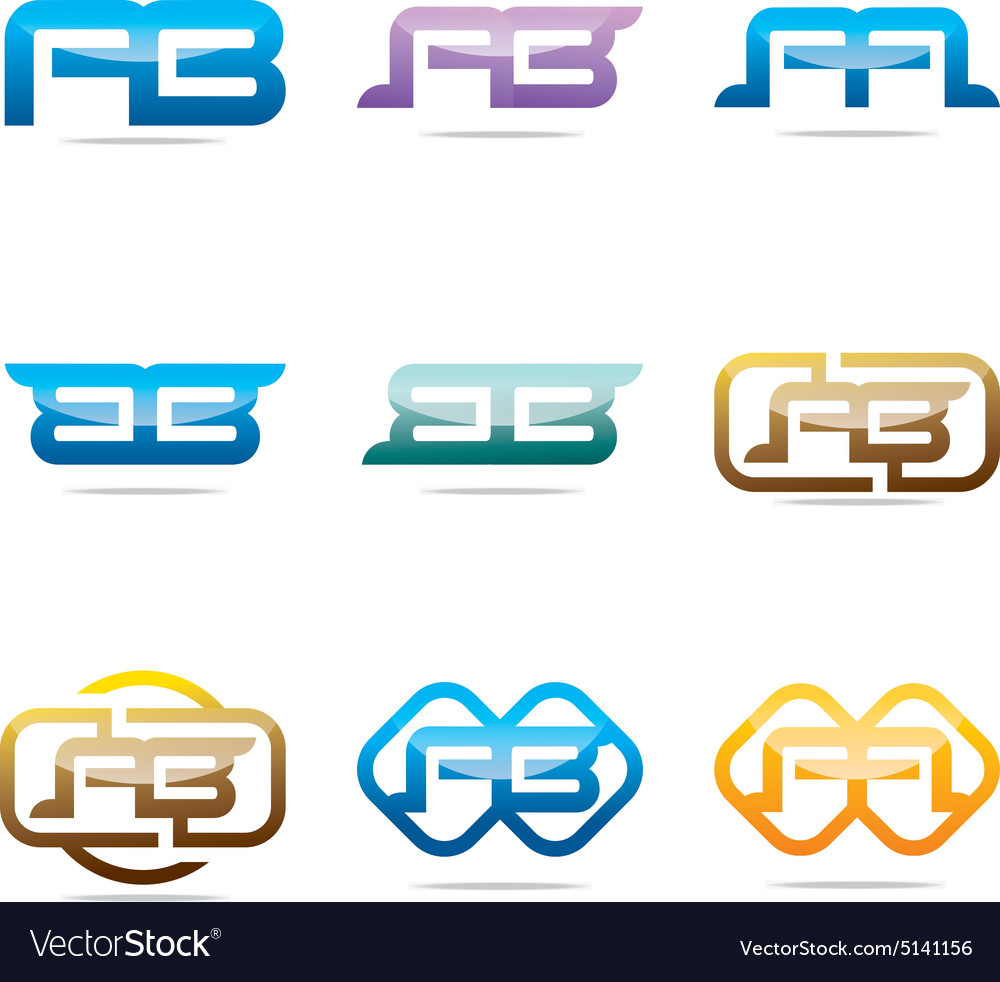 Logo all sales ab abstract symbol vector