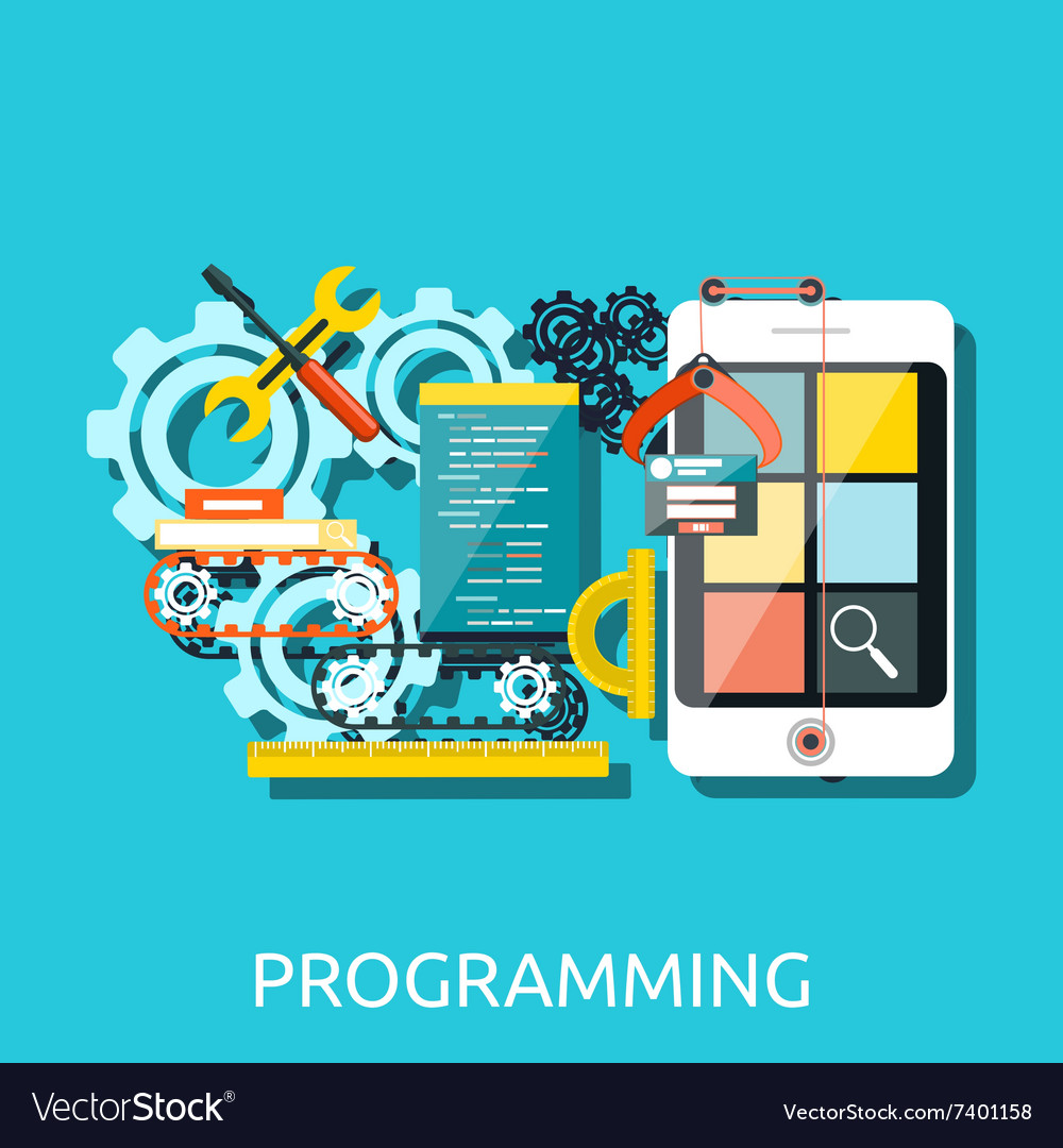 App development programming concept vector