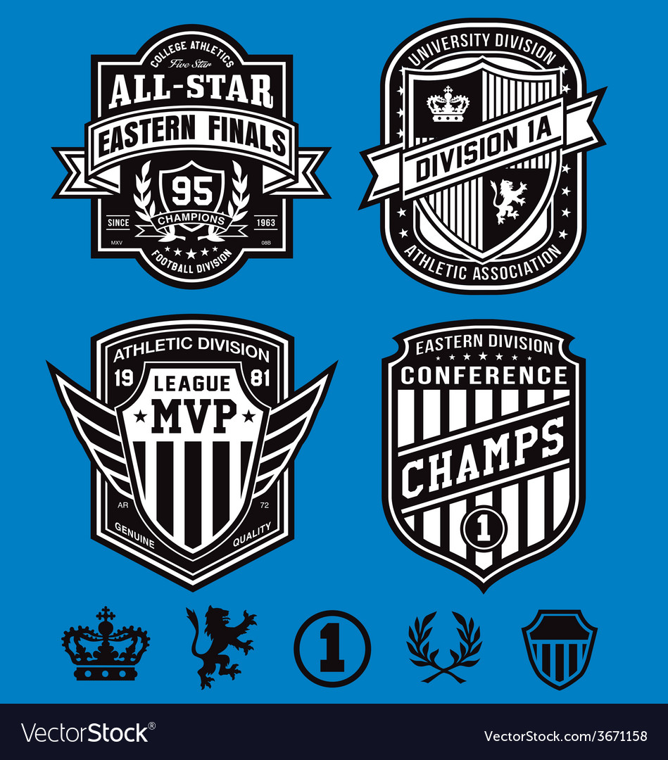 Athletic crest emblems vector