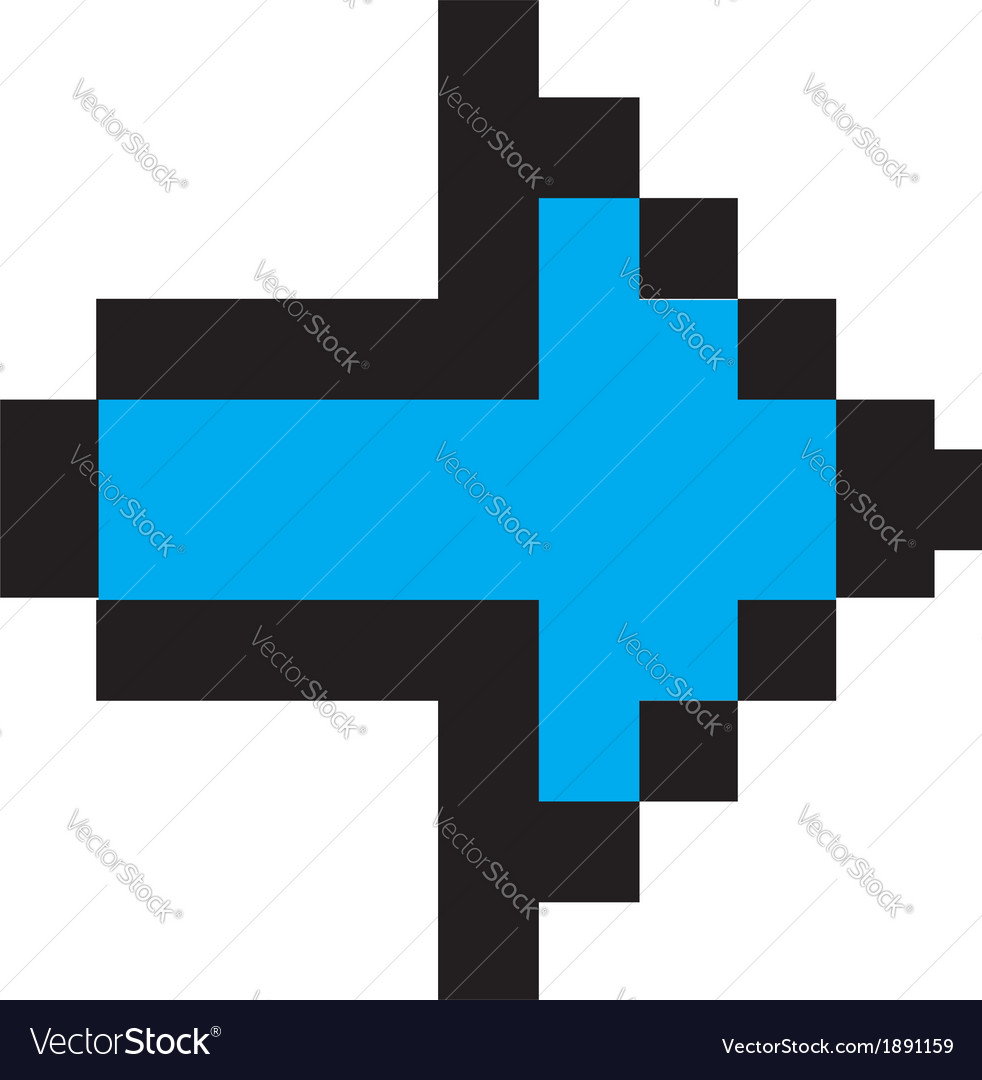Blue arrow digital vector