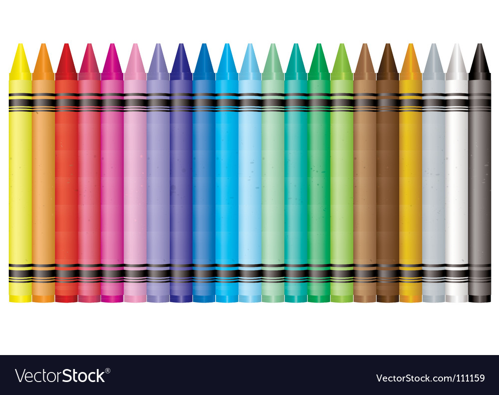 Rainbow crayon vector