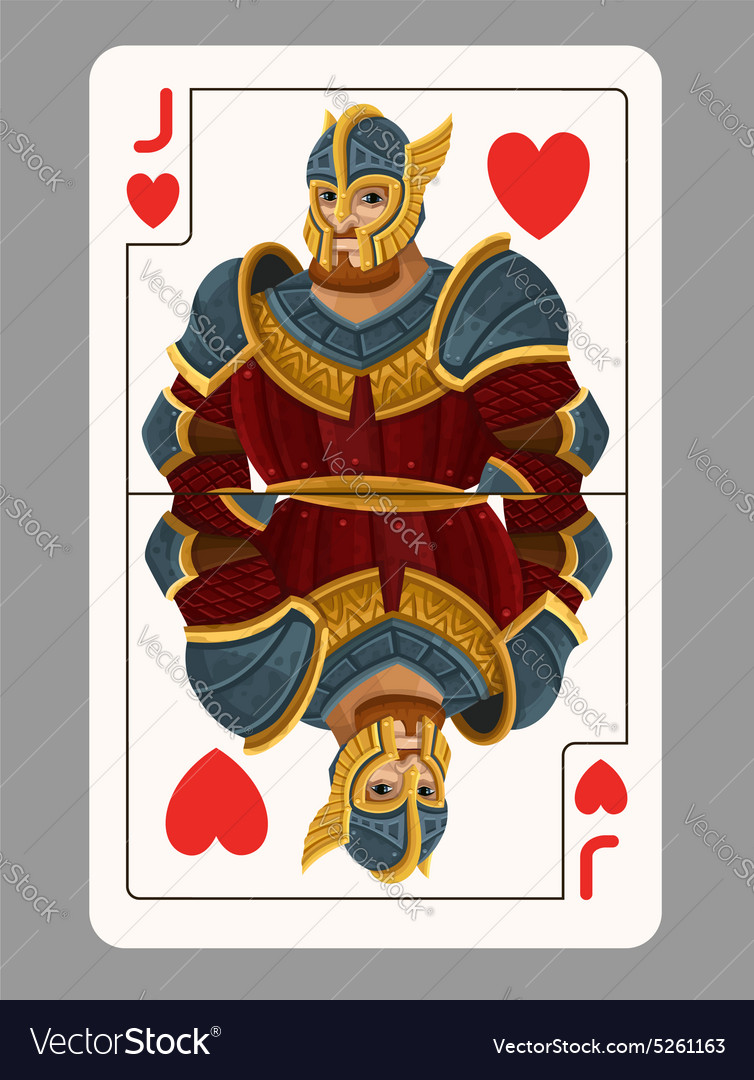Jack of hearts playing card vector