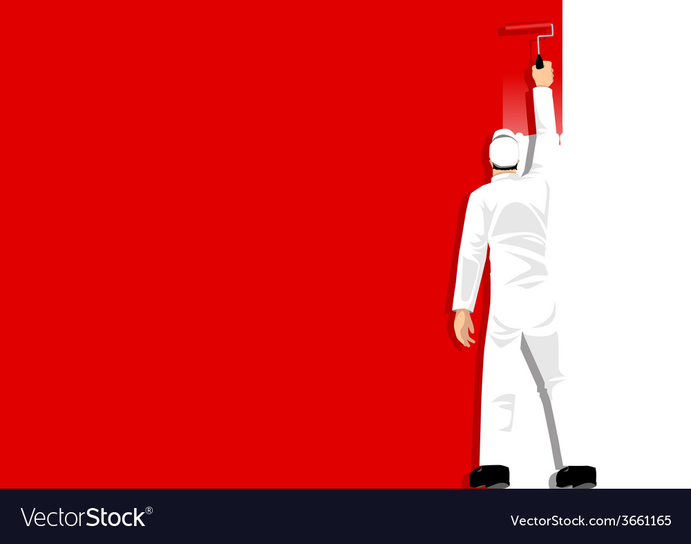 Paint it red vector