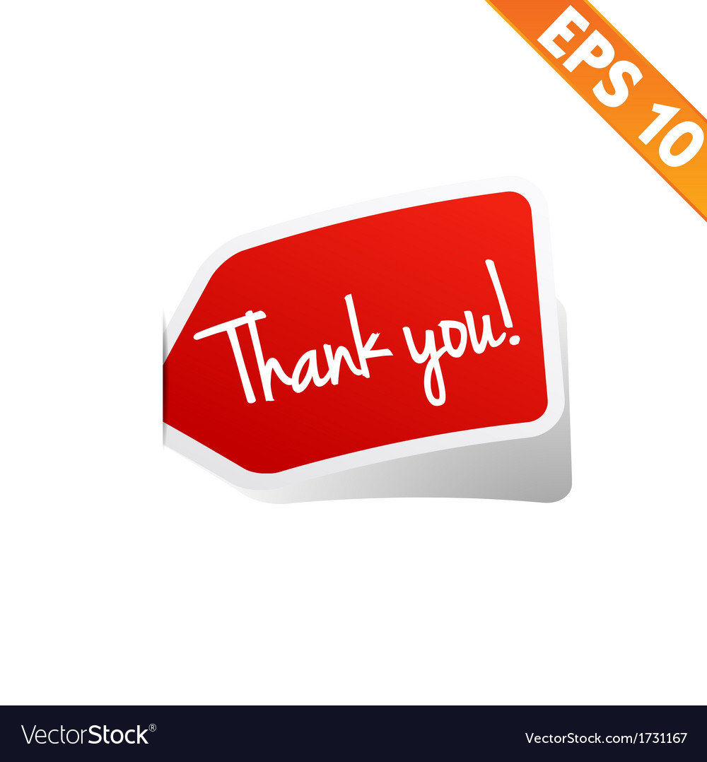 Thank you sticker tag   eps10 vector