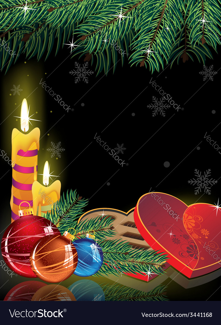 Romantic new year background vector