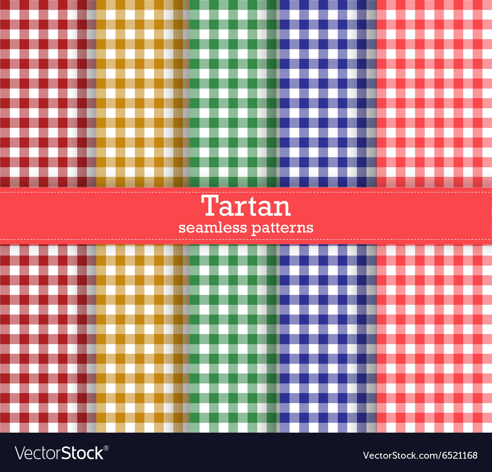 Trendy vichy patterns vector