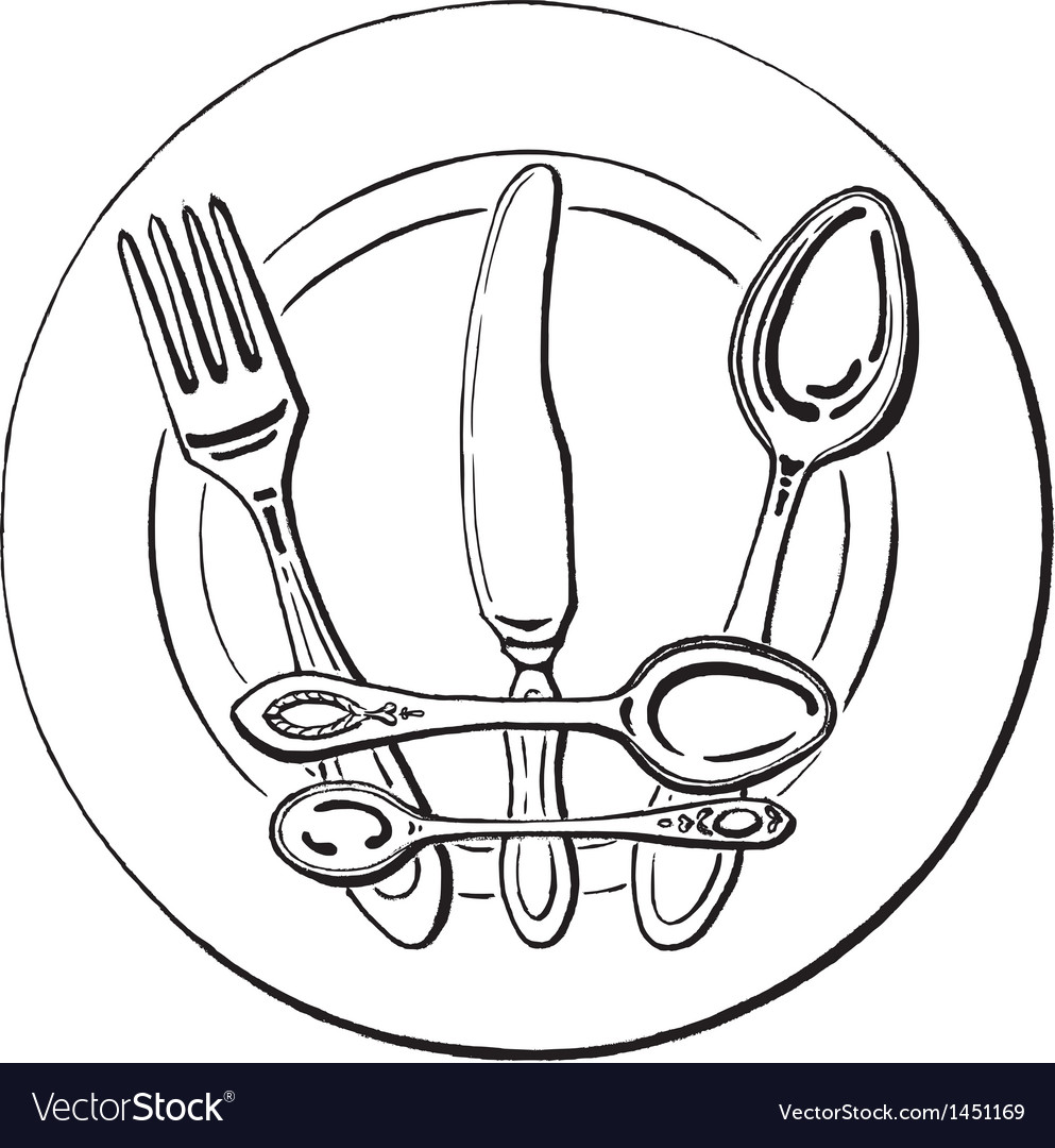 Crown on a plate vector