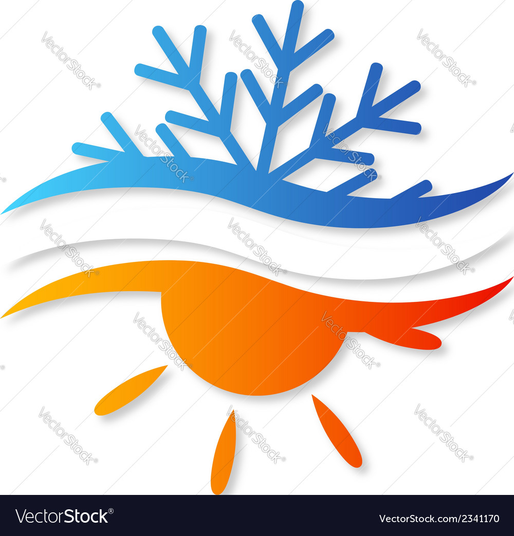 Air conditioner design vector