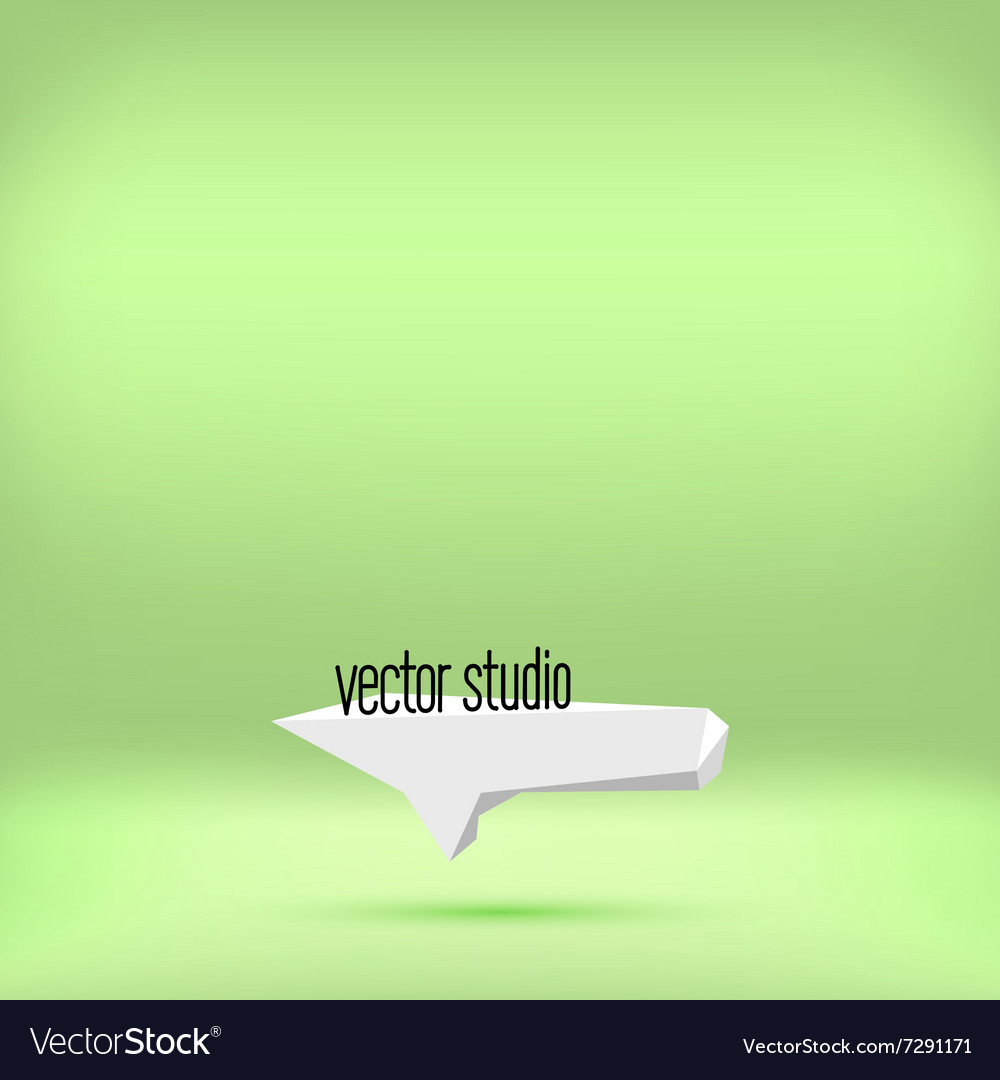Green studio room backdrop background vector