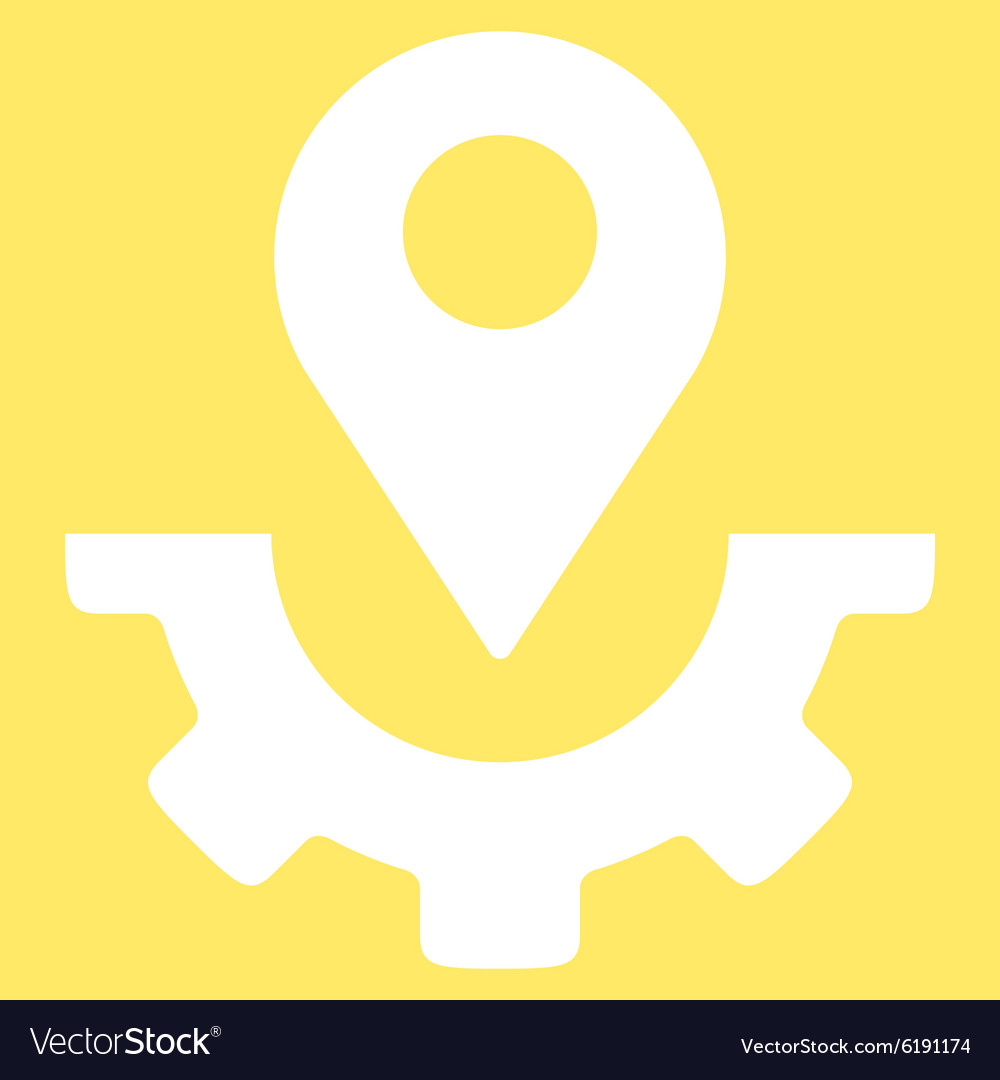 Service map marker icon vector