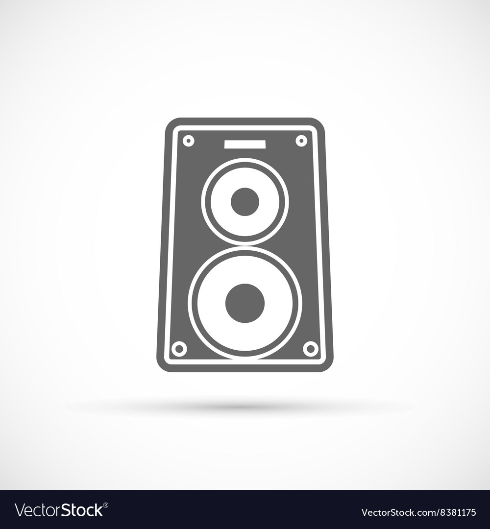 Speaker music icon vector