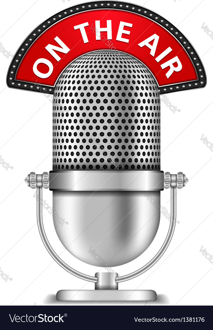 Microphone on the air vector