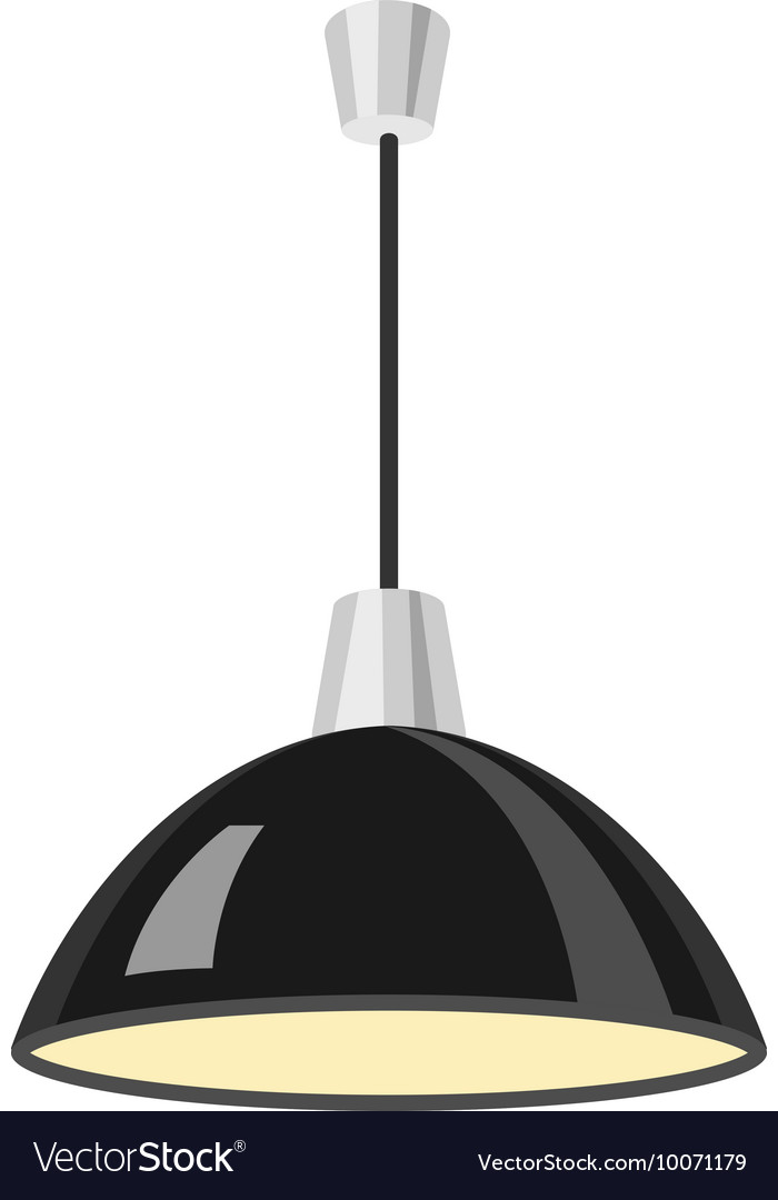 Hanging black lamp vector