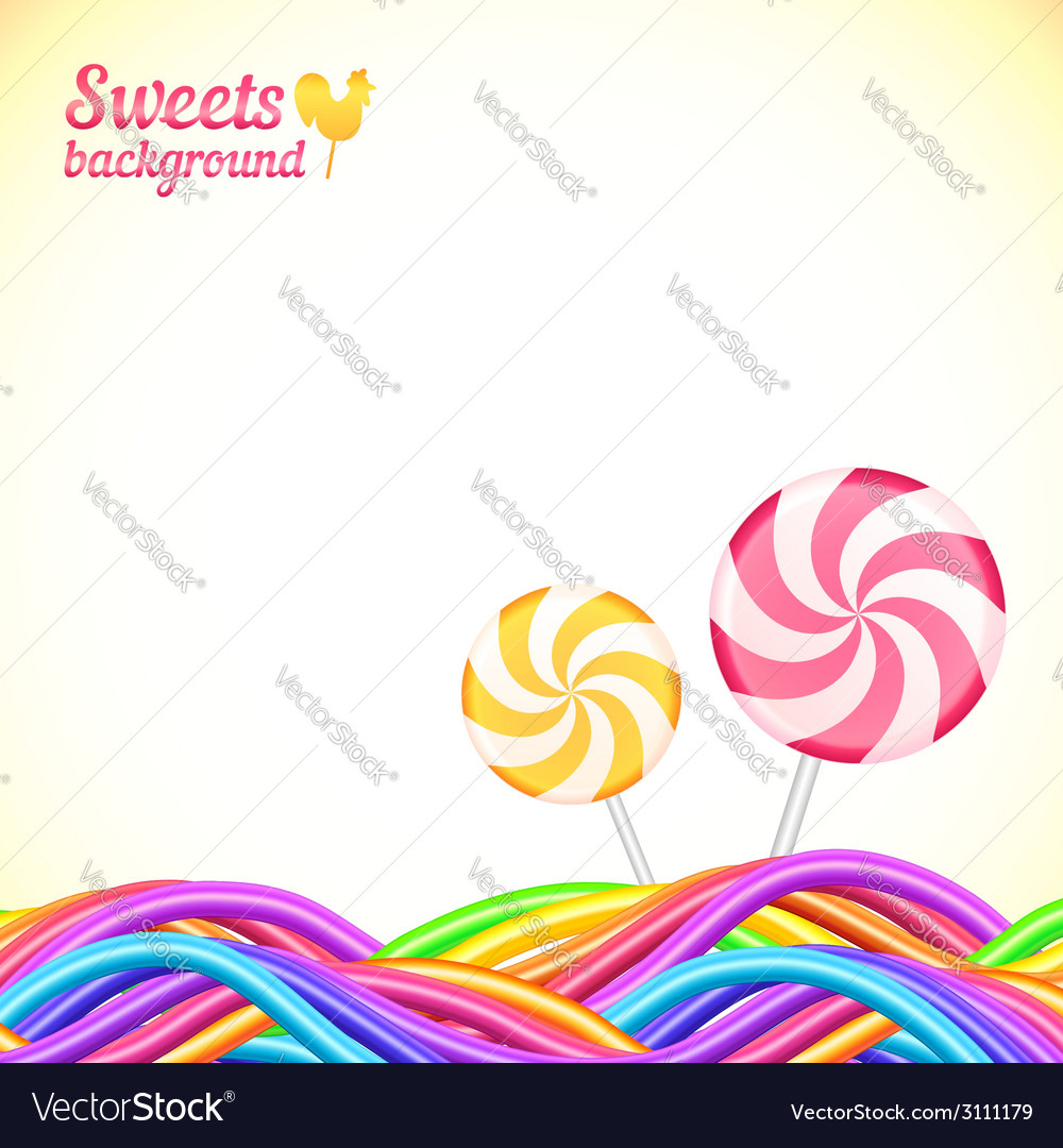 Round candy rainbow colors sweets background vector