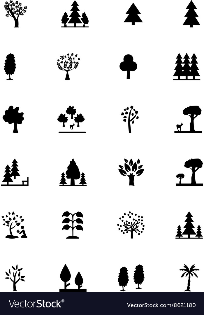 Forest solid icons 2 vector