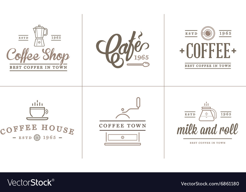 Set of coffee elements and coffee accessories can vector