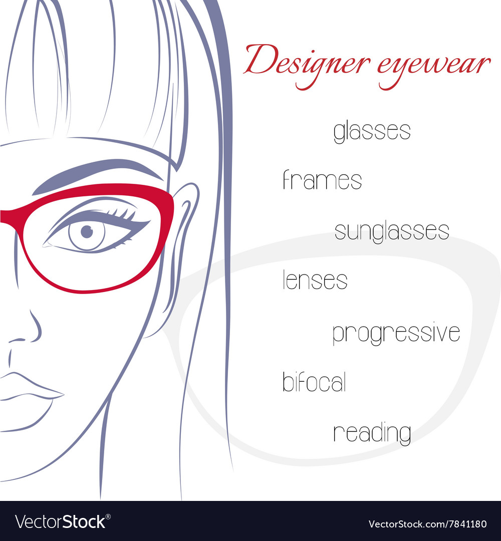 Woman in glasses optician consept stylish vector