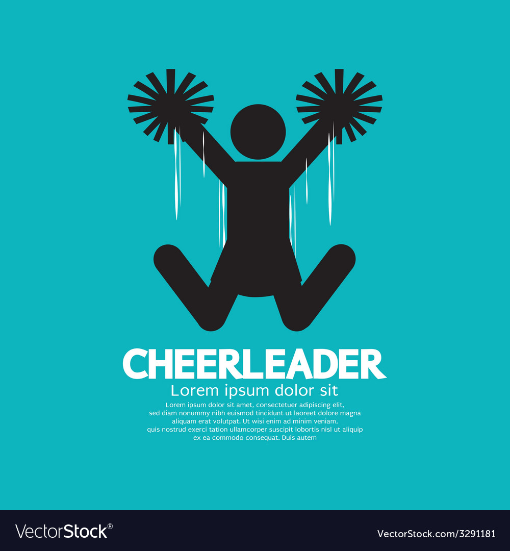 Cheerleader graphic symbol vector