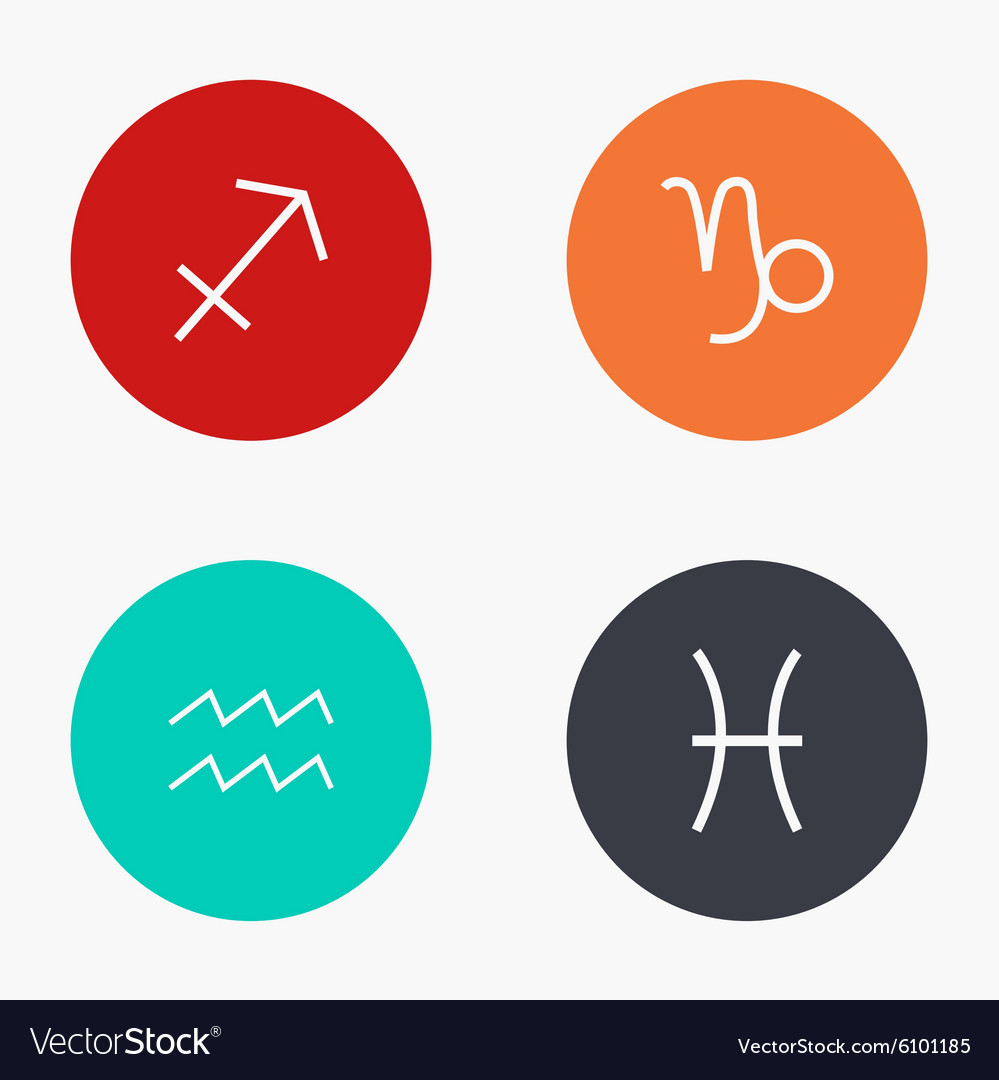 Modern sings of the zodiac colorful icons vector