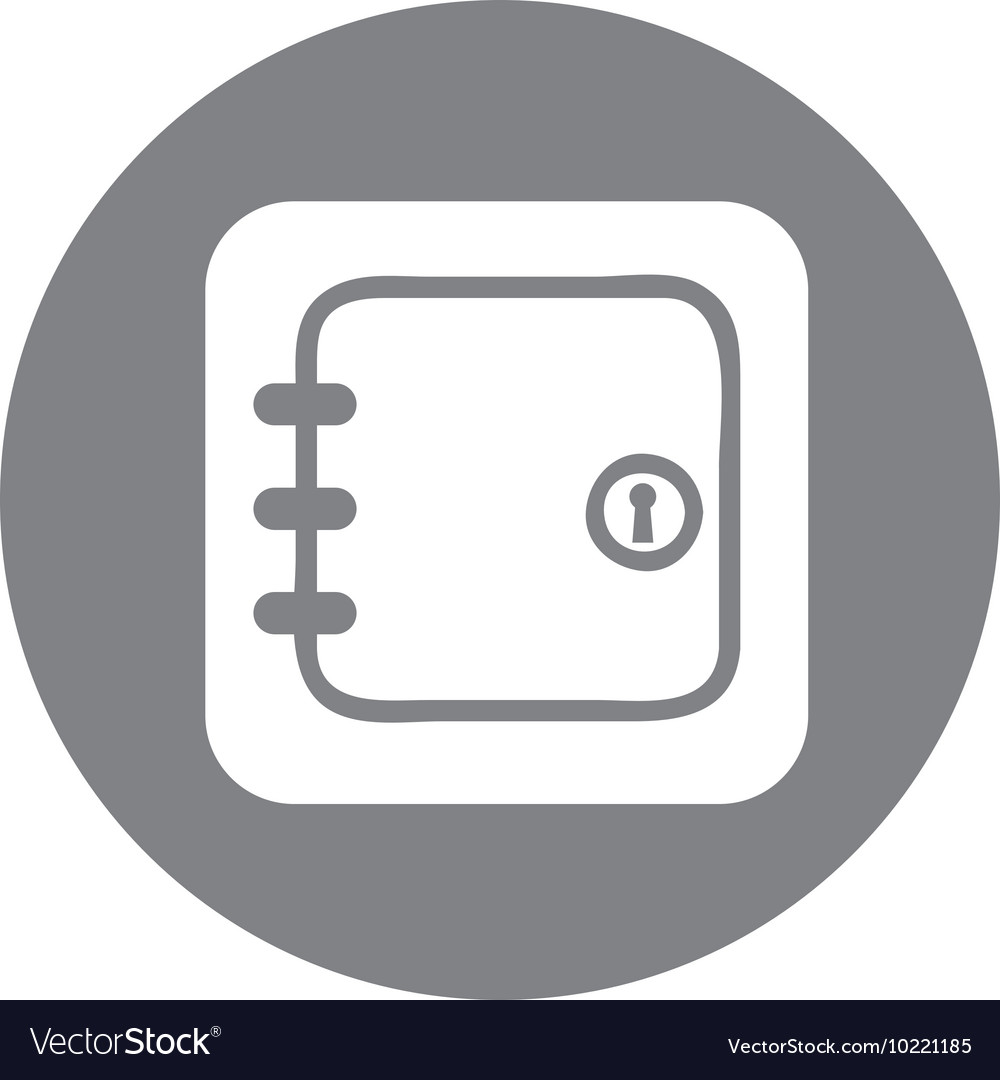 Safe money box icon vector