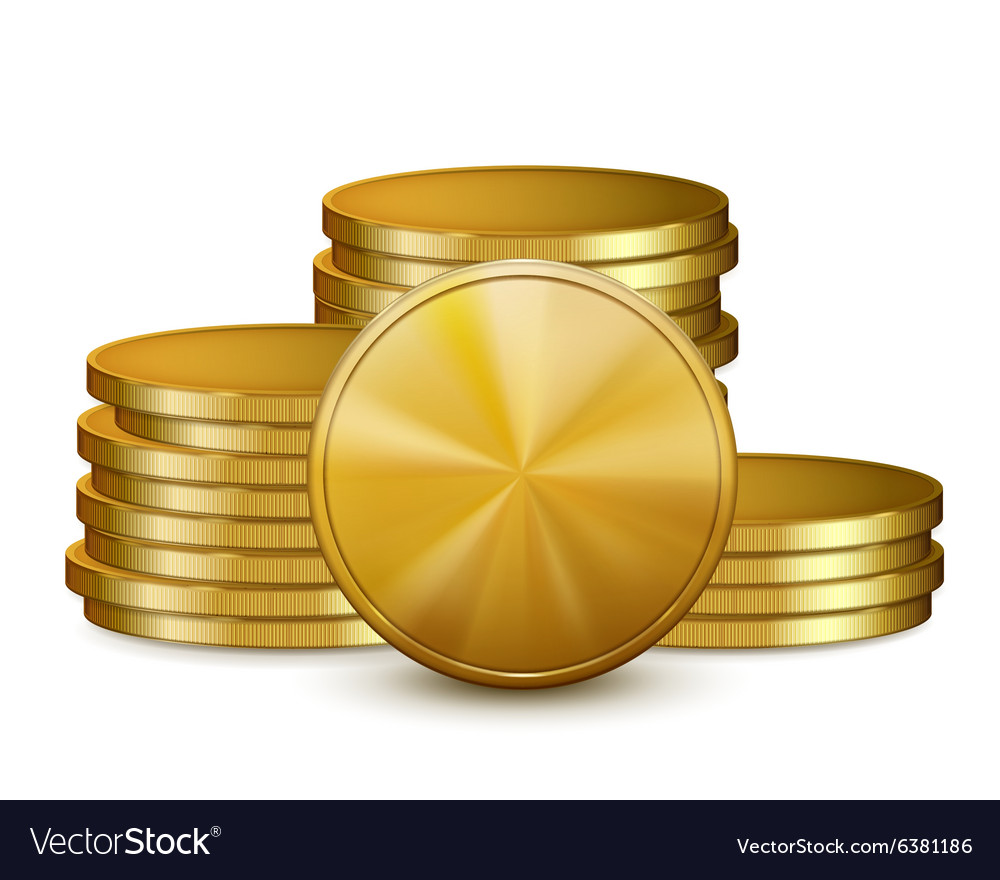 Stacks of golden coins vector