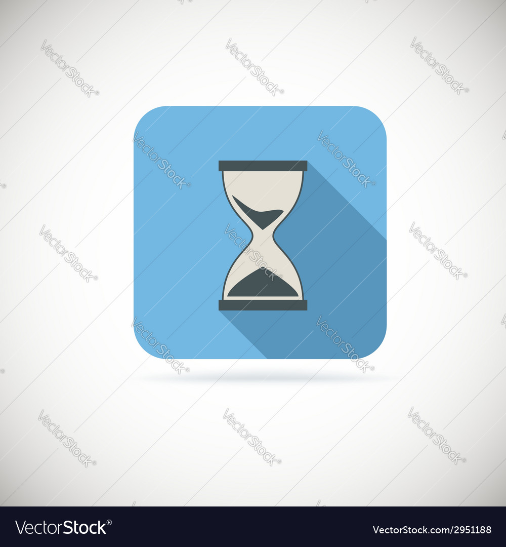 Flat hourglass icon vector