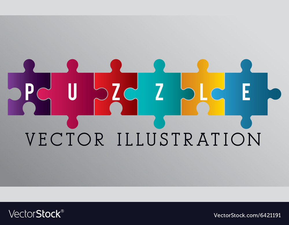 Puzzle pieces and big ideas vector